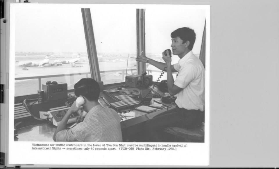 Vietnamese air traffic controllers in the tower at Tan Son Nhut must be multilingual to handle arrival of international flights - sometimes only 40 seconds apart.